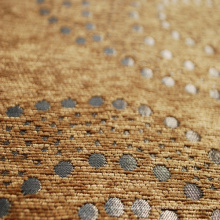 Camel Color Chenille Sofa Fabric with Shinning Material