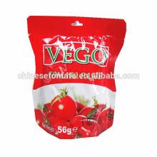 Pâte organique de tomate de sachet de 56g avec la qualité