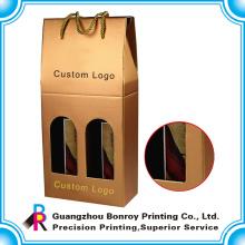 Guangzhou personalizado logo vino caja de envío corrugado con entrega rápida