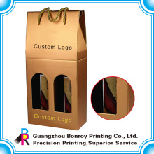 Guangzhou customized logo wine shipping box corrugated with fast delivery