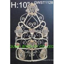 Grandes calientes al por mayor calabaza Halloween calavera personalizada cristal toara corona-GWST1128