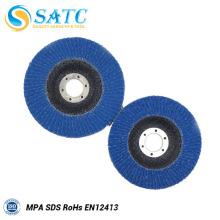 Color azul y tamaño personalizado ZIRCONIA OXIDE FLAP DISCS