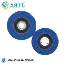 Blue Color and Customized Size ZIRCONIA OXIDE FLAP DISCS