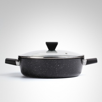 NONSTICK BLACK MARBLE COATING CASSEROLE DISH