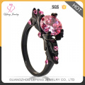 Wholesale italian Black Copper Jewelry ladies ornaments key ring For lady