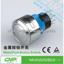 CMP diameter 22mm waterproof illuminated metal dome switch ip67