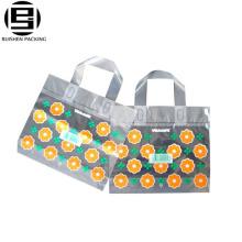 HDPE пластичный квадратный Нижний печать сумка с ластовицей
