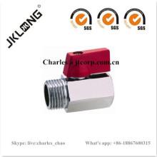 Válvula de bola de latón mini F / M DN8 DN10 DN15