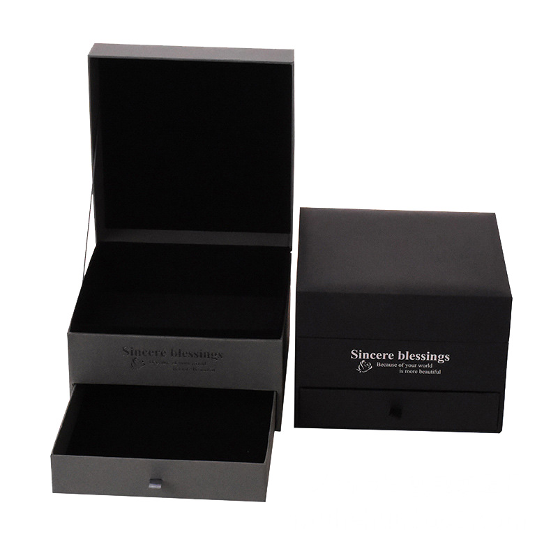 Black Cardboard Clamshell Gift Box