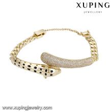 74833 xuping la más nueva calidad y pulsera popular del encanto para las señoras con 14k plateado