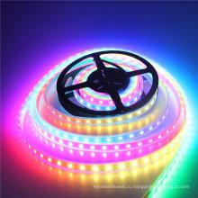 Освещение 3.2 фута/1 м WS2812 цифровой 5050 RGB светодиодные ленты белый PCB водить 60leds/М Водонепроницаемый IP67 dc5v СИД прокладки