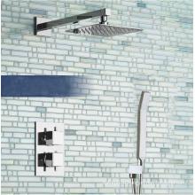 Квадратный скрытый термостатический смеситель для душа с душем и 8-дюймовым душем
