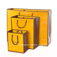 Bolso de compras Promotinoal modificado para requisitos particula / bolso de papel del portador de ropa