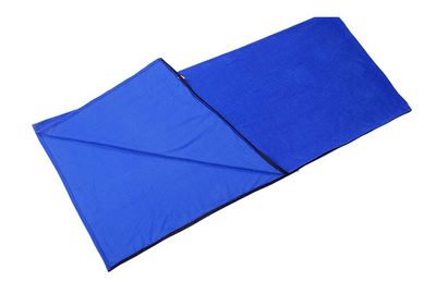 Comfortable sleeping bag liner