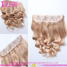 Fast shipping clip in human hair extensions for black indian hair weave 100% unprocessed clip hair extensions dubai