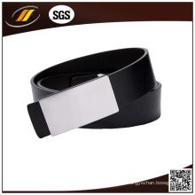 Cinturão negro de couro genuíno de alta qualidade OEM