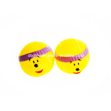 Vinyl Smile Face Ball Pet Toy