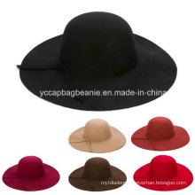Fashion Ladies Wide Brim Wool Felt Hat