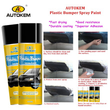 Durable Plastic Spray Paint, for Car Bumper and Trim