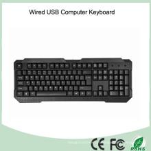Teclas de UV revestidas duráveis com teclado de computador com fio (KB-1688)