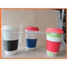 Haonai KC-00936 tasse à café en céramique faite à la main avec couvercle