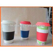 Haonai KC-00936 hand made ceramic coffee mug with cover