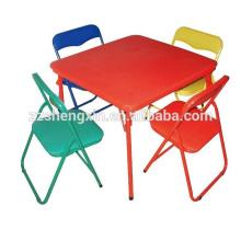 Kinder-Metall-Schreibtisch Klapp-Rückenlehne Stühle zum Verkauf