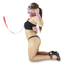 Classic Red Long Sex Neck Ring Neck Collar Sm Necklace Fetish Sex Toy Leather PVC Neck-Ring