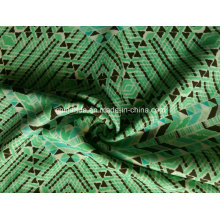 Зеленый треугольник печать ткань для спортивной одежды (HD1401112)