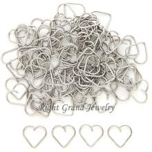 Hélice de coração de aço cirúrgico 316L jóia Piercing