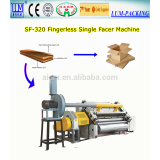 Single facer for corrugated carton making, single facer
