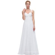 Starzz Sweetheart sin mangas de gasa blanco vestido de baile largo ST000065-2