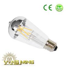 Venta directa de la fábrica St64 6.5W plateado espejo LED Bombilla