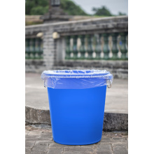 Sac à ordures en plastique transparent