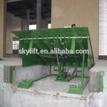 chargement hydraulique en acier dock de chargement rampe de chargement