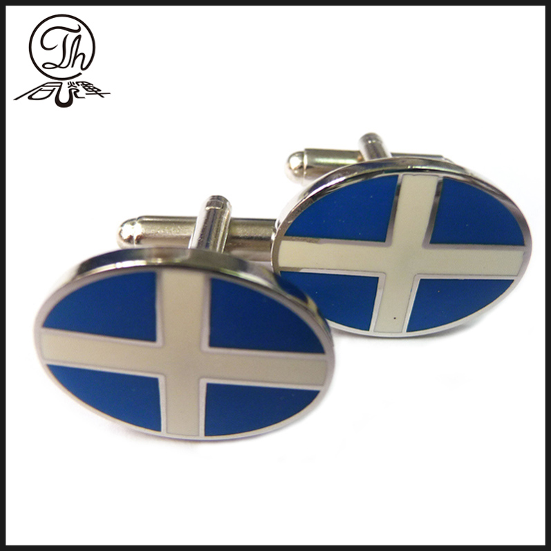 wholesale Custom Made Club Logo Metal Cufflinks