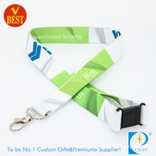 China High Quality Full Color Dye Sublimation Printed Lanyards with Safety Lock