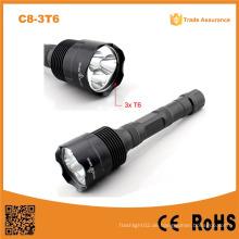 C8-3t6 Multifunktions-Taschenlampe 3t6 Akku-Taschenlampe 3800 Lumen Selbstverteidigung Taktisches Licht