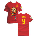 2014 Spain soccer fan cartoon t-shirts for the Brazilian World Cup