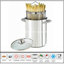 Stainless Steel Asparagus Pot with Glass Lid