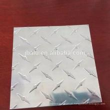 Alta qualidade antiderrapante em relevo preço placa de verificador de alumínio