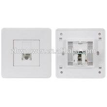 Fornecimento cat5e cat5e 1/2/4 port porta RJ45 face placa com preço barato