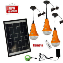 2015 mais novo DIY solar luz conduzida com carregadores do telefone móvel, mais do que 300LM