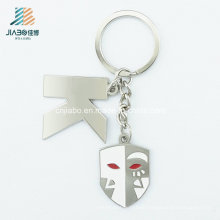 New Design Alloy Silver Enamel Metal Ghost Keychain for Holloween