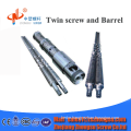 conical twin screw barrel for plastic machinery