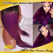 Hot sale factory price purple ombre hair wig