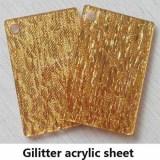 Silver/Golden Glitter Cloth Acrylic Board