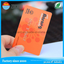 Plastic Smart ID Cards Matte Transparent Magnetic Strip Card