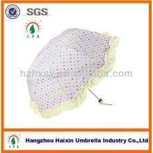 Neue Produkte drei niedliche Falte Sonderform Schirm
