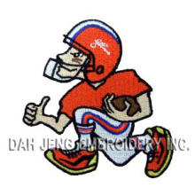 100% Embroidered Emblem in Football Player Shape